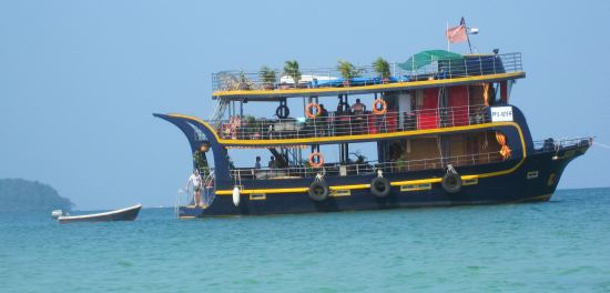 The Sun motoryacht from Sihanoukville Cambodia