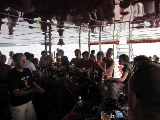 Crowded bar at The Sun